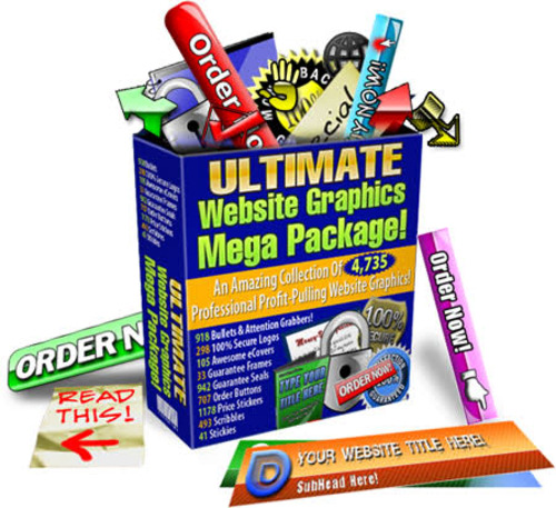Product picture Ultimate Website Graphics Pack -4735 Professional Graphic