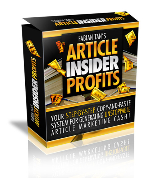 Product picture Complete Article Insider Profit System